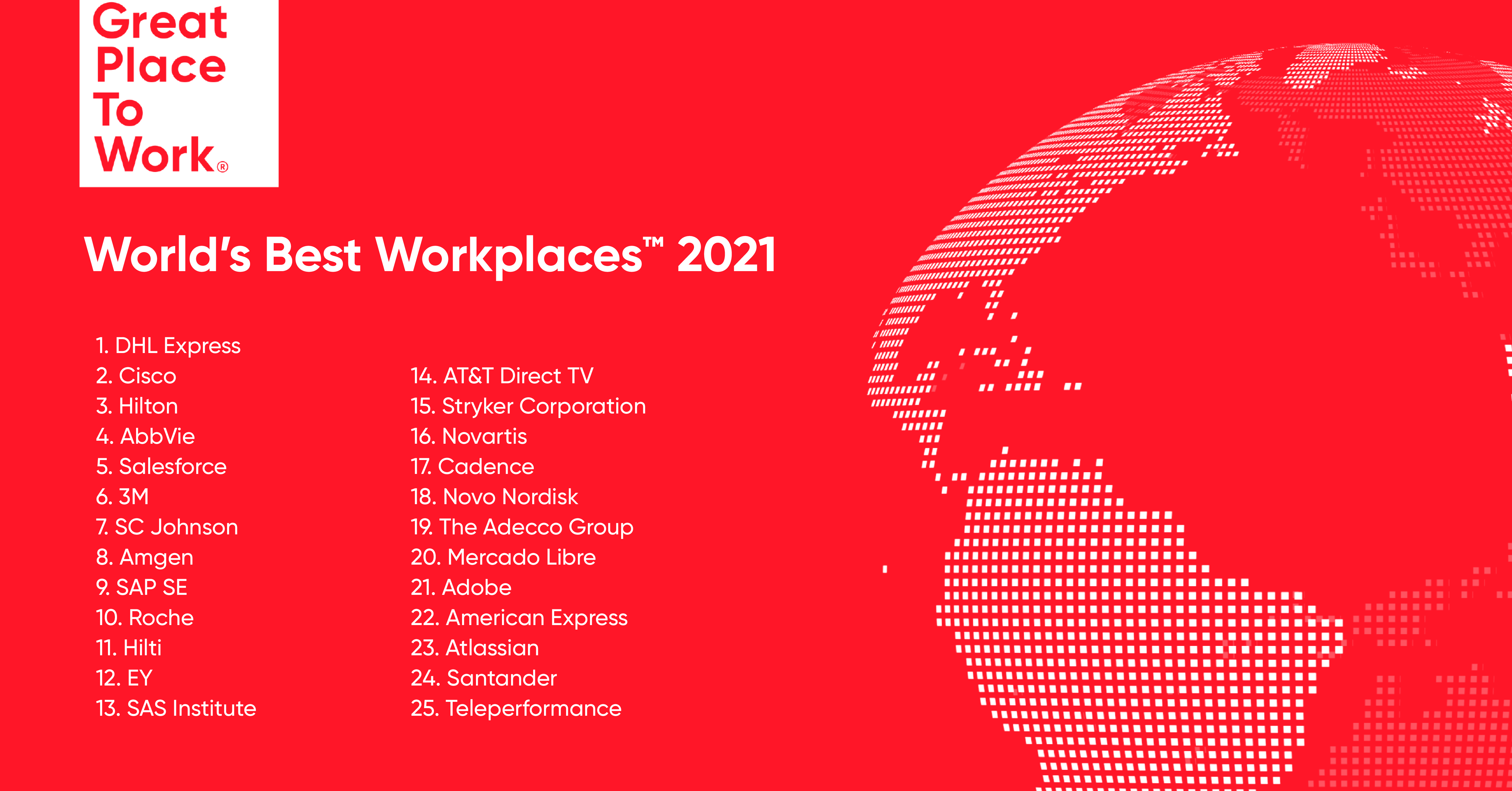 Great Place to Work® Announces the World's Best Workplaces™ 2021