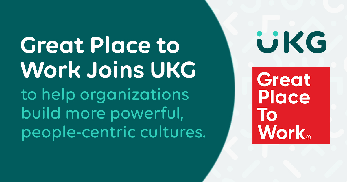 UKG Acquires Great Place to Work